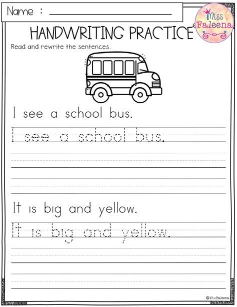 school handwriting practice  images