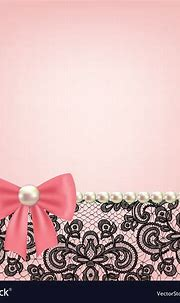 Pearl frame on lace background Royalty Free Vector Image