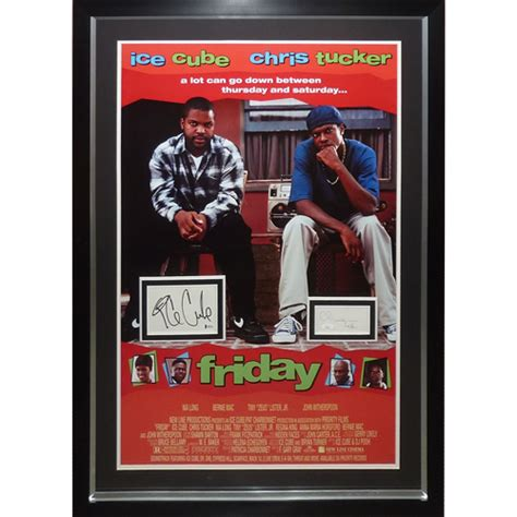 ice cube  chris tucker autographed friday full size