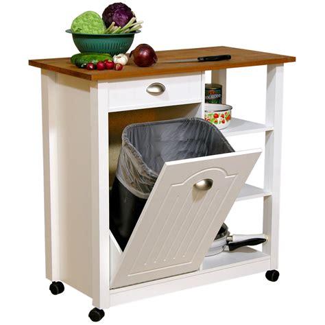 kitchen island with trash bin kitchen cart with trash bin kitchen design photos