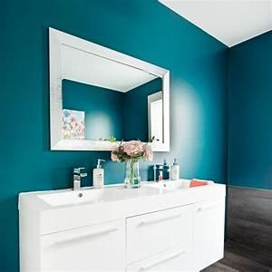 decoration salle de bain bleu With salle de bain couleur bleu