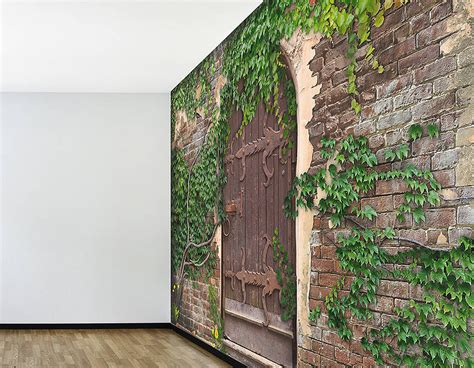 Self Adhesive 'secret Garden' Wallpaper Mural