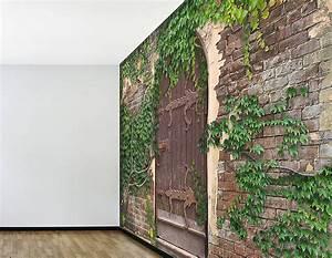 Self adhesive secret garden wallpaper mural for Garden wall murals
