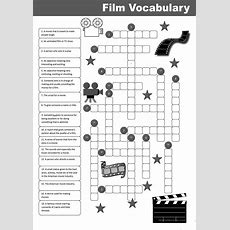 Film Vocabulary Crossword Worksheet  Free Esl Printable Worksheets Made By Teachers