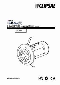 Clipsal 5753peirl Occupancy Sensor Motion Detector Install