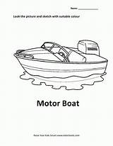 Coloring Motor Boat Pages Popular sketch template