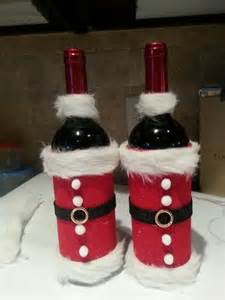 Santa Wine Bottle Christmas Craft