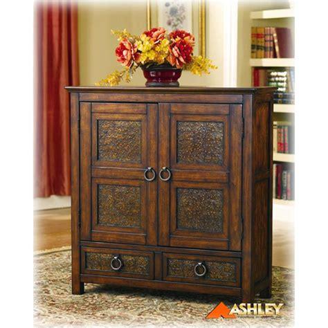 ashley furniture accent cabinets t553 20 ashley furniture mckenna door accent cabinet brn metal