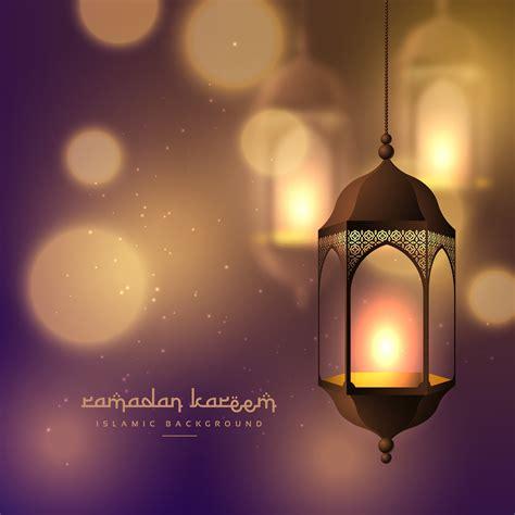 beautiful hanging lamps  blurred bokeh background