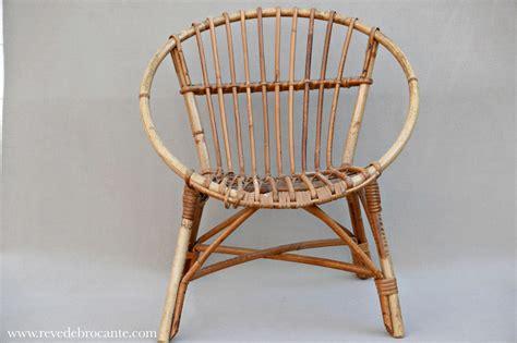 fauteuil vintage d enfant en osier r 234 ve de brocante