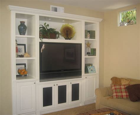 wall unit tv bookcase custom built in tv entertainment home theater media