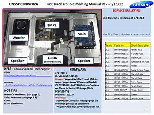 Samsung Un55c6500vfxza Fast Track Guide Service Manual