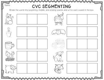 cvc segmenting freebie use as follow up activity for