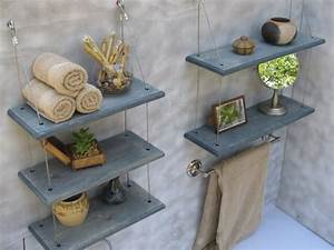 Etagere De Bain : tag re salle de bain un bain d 39 id e pour faire le bon ~ Teatrodelosmanantiales.com Idées de Décoration
