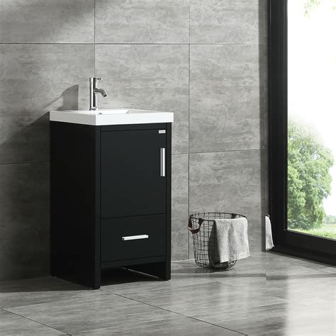 "Modern bathroom vanities of 2021 that will be a beautiful addition to your bathroom, looking for whether you are searching out a grasp bathroom vanity or a powder room vanity, keep in mind that. Walcut 18"" Modern Bathroom Vanity Cabinet Wood with Top ..."