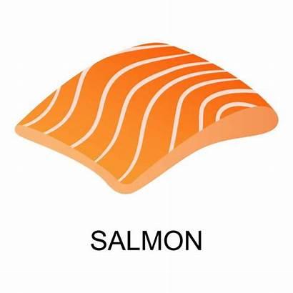 Salmon Vector Clip Illustrations Graphics Eggs Tuna
