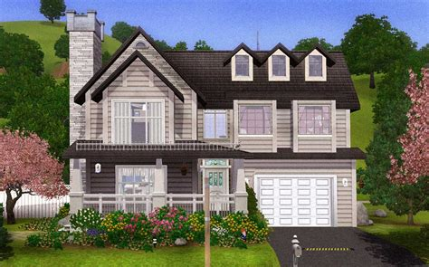 inspiration sims  large family house home
