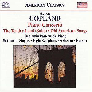 Copland Piano Concerto Naxos 8559297 [th] Classical Cd