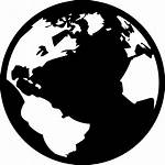 Globe Earth Icon Global Clipart Warming Silhouette