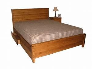 Lit Double Bois : mfc base de lit plateforme en bois massif montreal ~ Premium-room.com Idées de Décoration