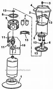 Coleman 5154b700 Parts List And Diagram
