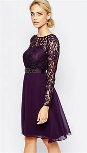 purple dresses purple dress dresses with sleeves and With lace dresses for wedding guests