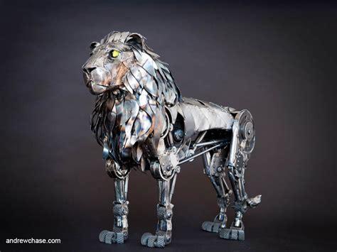 fabulous metallic sculpture art  andrew chase