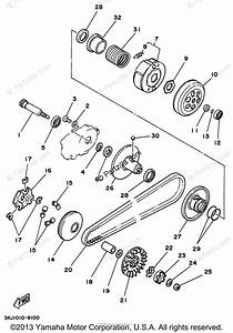 Yamaha Scooter 1997 Oem Parts Diagram For Clutch