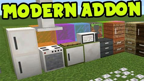 Mcpe Addon! Modern Furniture Decorations + Addon And