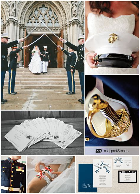 patriotic inspiration  marine corps wedding