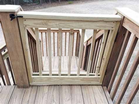 outdoor gate for deck stairs baby gate building yard ideas deck gate 7227