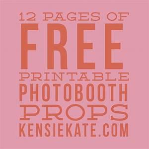 12 pages of free printable photobooth props — Kensie Kate