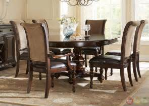 Traditional Dining Room Sets Kingston Plantation Traditional Oval Table Chairs 7 Pc Formal Dining Room Set