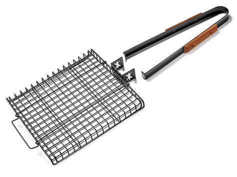 charcoal companion ultimate grilling basket  removable handle  cutlery