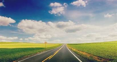 Nature Landscape Wallpapers Road Sky Background Grass