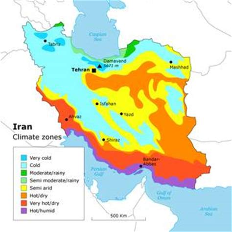 Iran Climate Zone Map