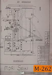 Mori Seiki Standard And Type Ii  Lathe Assembies Manual
