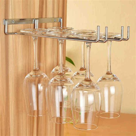 cabinet stemware rack uk wine glass cup holder hanging glasses chagne