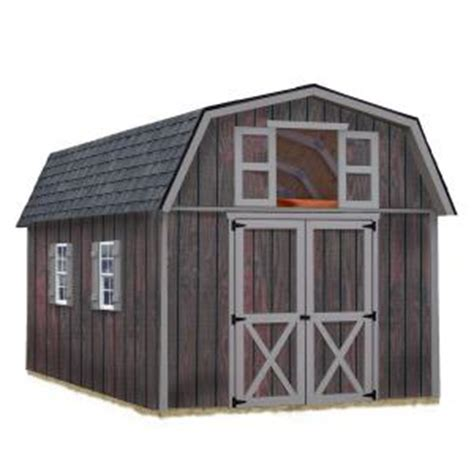 Home Depot Storage Sheds Kits by Best Barns Woodville 10 Ft X 16 Ft Wood Storage Shed Kit