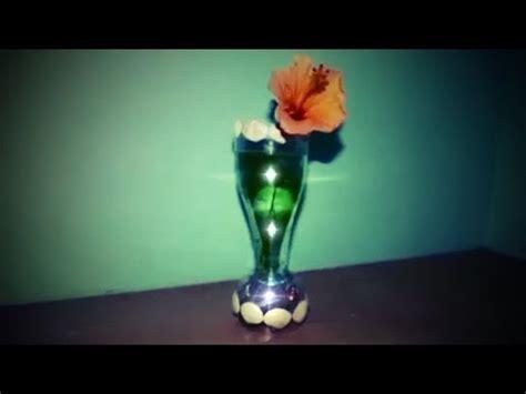 membuat vas bunga berlampu  botol plastik bekas