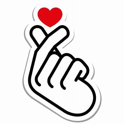 Korean Heart Sign Vector Finger Hand Icon
