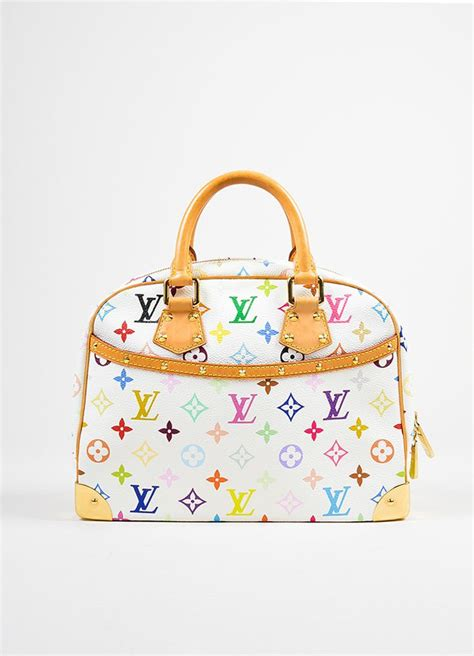 white  multicolor louis vuitton coated canvas monogram