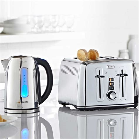 toaster kettle sets polished stainless steel kettle and toaster set