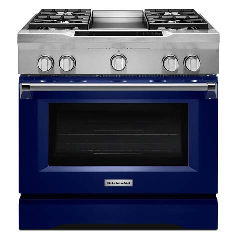 kitchen aid oven kitchenaid 36 in 5 1 cu ft dual fuel range with