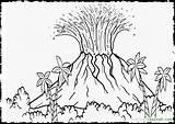 Volcano Coloring Pages Island Hawaii Drawing Printable Dinosaur Sheets Colour Vulcano Landscape Colouring Eruption Hawaiian Dinosaurs Mclaren Template Drawings Designlooter sketch template