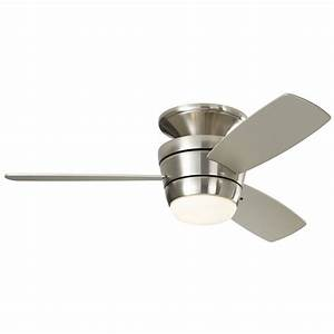 Harbor breeze ceiling fan light kit lowes : Harbor breeze mazon in brushed nickel flush mount