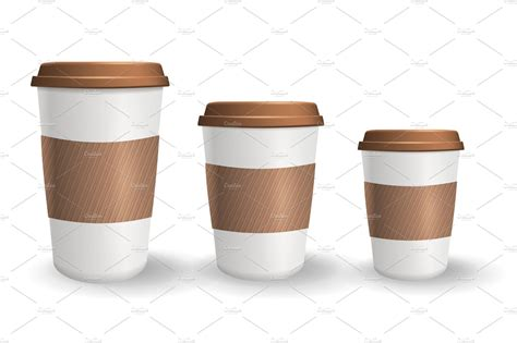 If you need disposable coffee cups with lids from a wholesale supplier that excels in reliability, you know who to call. Set of realistic takeaway and to go paper coffee cups in different sizes.   Custom-Designed ...
