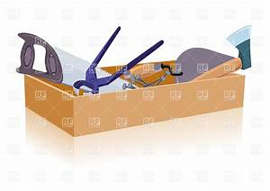 Wooden toolbox with tools Royalty Free Vector Clip Art ...