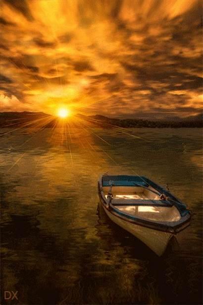 Sunset Animated Nature Gifs Sunrise Soft Fr