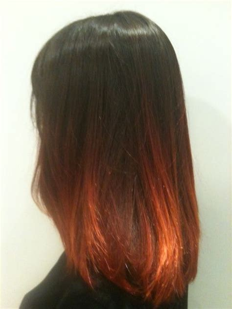cheveux tie and dye brun roux looks i want dyes and ties